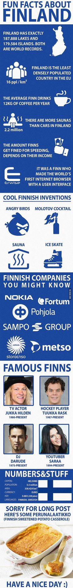 Fun Facts about Finland #travelfacts