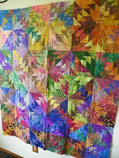 Beautiful interpretation of Judy Neimeyer pattern! By Leslie McNeil of MarveLes Art Studios. reminds me of Grammy..