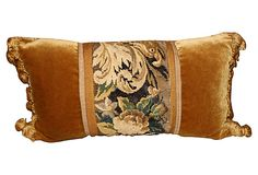 Pillow w/ 18th-C. Tapestry on OneKingsLane.com