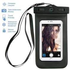 PREMIUM QUALITY Universal Waterproof Case including ARMBAND  COMPASS  LANYARD - Best Water Proof, Dustproof,... >>> This is an Amazon Affiliate link. Want additional info? Click on the image.
