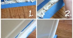 The icky bathtub caulk line had to go, so with this simple tutorial, you can caulk a perfectly straight line!