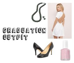 """Graduation Outfit"" by megana7398 on Polyvore featuring Tobi, Kate Spade, Mikimoto and Essie"