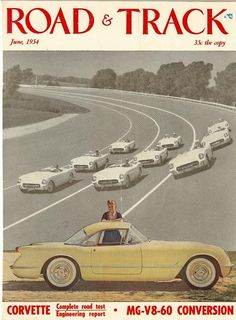 1954 Chevrolet Corvette ad that appeared in Vette Vues Magazine Rear Vues column where we feature vintage Chevy advertisements as well as magazine ads and covers that covered the Chevrolet models.