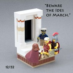 """""""Et tu, Brute?""""   Vignette 12/52 - """"8x8x52 Project"""" My goal is to build at least one 8x8 base vignette per week, for a consecutive 52 weeks. This is build 12 of 52."""