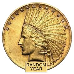 $10 Gold Eagle Indian Head - Extra Fine XF (Random Year)   Bullion Exchanges