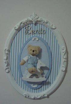 Enfeite para porta de maternidade ou quarto do bebê. <br>Poderá ser confeccionado em outras cores.