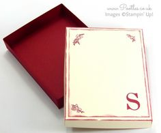 Stampin' Up! Sophisticated Serifs Note Card Box Tutorial Open
