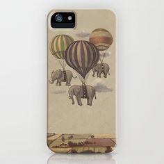 Flight of the Elephants  iPhone Case by Terry Fan - $35.00