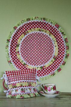 Beso francés tetera y patrón de centro de mesa por braidcraft