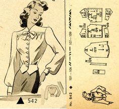 1940s () Blouse  Wiener Frauenzeitung Nr 5 No 542