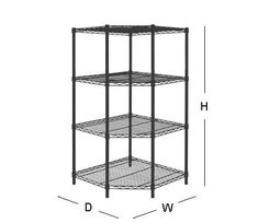 HDX 54 in. H x 27 in. W x 27 in. D 4 Shelf Steel Corner