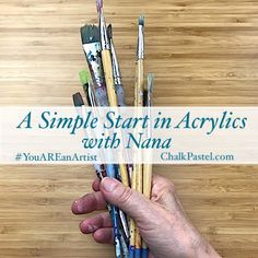 NEW – introducing Nana's A Simple Start in Acrylics video art lessons! Welcome Pictures, Online Art Classes, Nature Artists, Art Lessons For Kids, Nature Study, Chalk Pastels, Mural Painting, Chalk Art, Kitchen Art