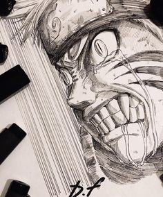 Uzumaki Naruto by [David Freeman]. Anime Naruto, Naruto Shippuden Sasuke, Naruto Kakashi, Naruto Art, Manga Anime, Naruto Drawings, Anime Drawings Sketches, Anime Sketch, Cool Drawings