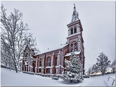 Photo of New church in Sipoo Finland Grave Monuments, View Image, Finland, Notre Dame, Graveyards, Cathedrals, City, Building, Places