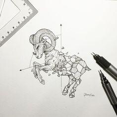 Geometric Beasts | Ram - Kerby Rosanes (@kerbyrosanes) - gramcommunity is the best instagram web-viewer