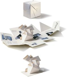 Johnson Banks promotional mailer for the (now abandoned) Libeskind Spiral extension at the V