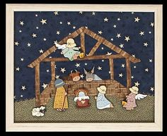 Christmas Time, Christmas Crafts, Merry Christmas, Xmas, Diy Nativity, Christmas Patchwork, Patchwork Baby, Applique, Projects To Try