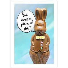 Easter Humor: Tough guy chocolate bunny