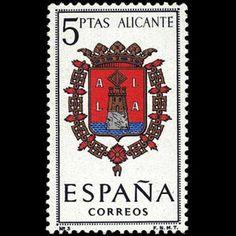 1962 Escudos de las capitales de provincia españolas. Grupo 1