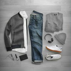 Grey casual outfit