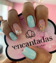 Love Nails, Pretty Nails, Cute Simple Nails, Sea Nails, French Nail Art, Cute Acrylic Nails, Nail Shop, Fabulous Nails, Beauty Nails