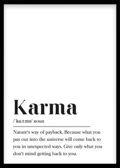 Karma Definition Print Printable Wall Art Print Happy Wall A.- Karma Definition Print Printable Wall Art Print Happy Wall Art Motivation Gift Typography Buddhism, Law of Attraction, Footnote Karma Definition Print Printable Wall Art Print Happy Wall Art Citations Karma, Karma Frases, Karma Quotes Truths, Words Quotes, Wise Words, Me Quotes, Funny Karma Quotes, Karma Sayings, Scandinavian Poster