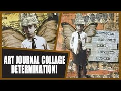 How to: Art Journal Page - Determination - YouTube