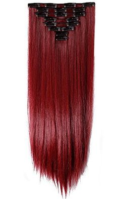 "S-noilite® 17-26 Inches(43-66cm) 8pcs Long Full Head Clip in Hair Extensions Sexy Lady Fashion Choice USA Local Post (26""-Straight, maroon mix dark red), http://www.amazon.com/dp/B00XDUHIVI/ref=cm_sw_r_pi_awdm_gRamxb1HZ0ESZ"