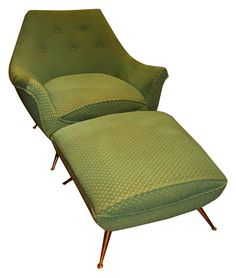 Vintage Mid Century Chair with Ottoman.