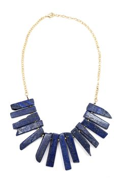 I cannot get enough of Cobalt for summer! This collar would look great with a strapless dress or even over a boys white tee.