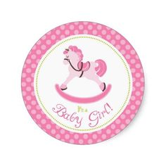 Rocking Horse Girl Sticker