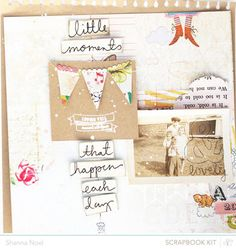 #papercrafting #scrapbook #layout By shanna Noel