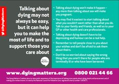 """The back view of """"Talk"""", one of our Awareness Week 2015 postcards.   Order Awareness Week resources here:  http://www.dyingmatters.org/page/talk-plan-live-resources"""