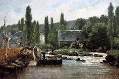 """"""" Le port de Pont-Aven"""", de Gaston Roullet vers 1878 (musée de Pont-Aven)"""