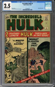 Now available: Incredible Hulk #... #comics    http://coloradocomics.com/products/incredible-hulk-4-cgc-2-5?utm_campaign=social_autopilot&utm_source=pin&utm_medium=pin