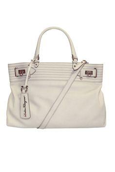 W Tote In Porcellana Calfskin By Ferragamo Chic Italian Made Handbag Beyond The