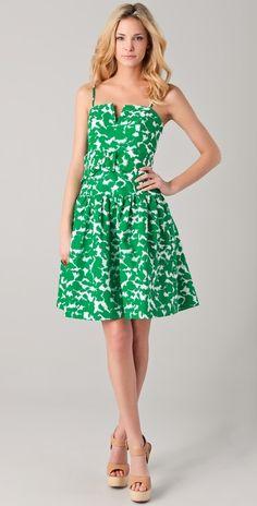 Milly Sarah Twirl Print Dress