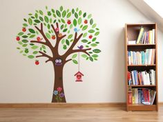 eh SALE LARGE Cute Owl Apple Tree Wall Sticker Mural Vinyl Decal Kids Room Decor #ChildrenRoomDecor