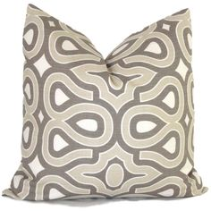 Gray and Tan Turtle Shell Decorative Pillow Cover, Throw Pillow... ($30) ❤ liked on Polyvore featuring pillows