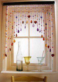 IDEA: Similour, but not as gaudy with colors. Do pale colors. Beads for Window.