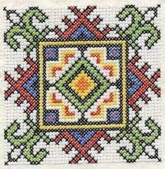 Ukrainian Cross Stitch Squares Machine Embroidery by Genniewren