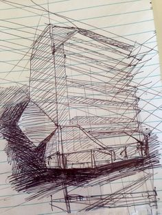 Jeffrey Smart Building lobby Observational Drawing Uni SA