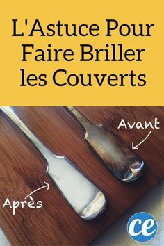Le truc pour faire briller les couverts avec du vinaigre blanc et une pomme de terre Cleaning Recipes, Cleaning Hacks, Remodeled Campers, Chic Wedding, Home Organization, Legos, Housekeeping, Dishwasher, Good Things