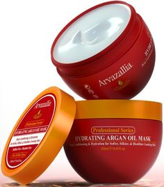 Hydrating Argan Oil Hair Mask and Deep Conditioner By Arvazallia for Dry or Damaged Hair