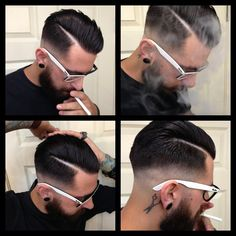 If you're into vintage cool hairstyles like pompadours and super slicked looks, you'll love our 25 favorite rockabilly and greaser hair styles for men. Rockabilly Stil, Rockabilly Fashion, Rockabilly Hair Men, Mens Rockabilly Hairstyles, Popular Mens Hairstyles, Boy Hairstyles, Medium Hairstyles, Old School Hairstyles, Hairstyle Man