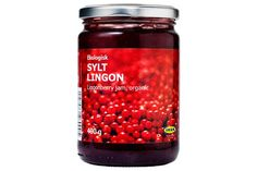 Lingonberry PreservesIf you grab one thing from Ikea's market, it should be this jar. Made without artificial ingredients or preservatives, this lingonberry jam will enhance a variety of dishes. Lingonberries taste a bit like cranberries, so you can imagine how a little smear on a roll will take your turkey sandwiches to the next level.  #refinery29 http://www.refinery29.com/best-ikea-food#slide-2