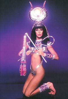 """Above: Cher in what Bob calls """"one of her outfits,"""" a costume from a 1975 television special. Photo by Harry Langdon"""