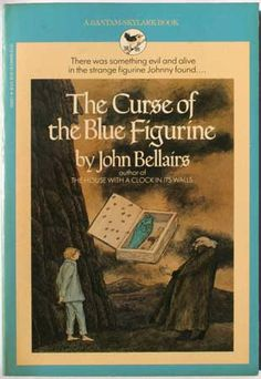 The Curse of the Blue Figurine | John Bellairs. Loved this series, particularly the Edward Gorey illustrations.