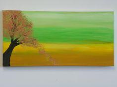 Acrylic Painting - Falling Leaves - www.harrisartstudio.com