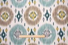 Charleston Home :: Charleston Home Duvall Printed Cotton Decorator Fabric in Lagoon $19.95 per yard - Fabric Guru.com: Fabric, Discount Fabr...